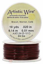 Brown Artistic Craft Wire 30 Feet 9.14 Meters Jewelry Beading Crafts 24 Gauge