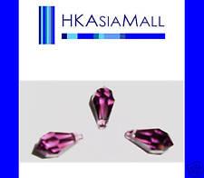 6 Swarovski Crystal Beads Teardrops 6000 11mm AMETHYST