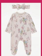 Disney Baby Tinkerbell Sleepsuit From Peter Pan Babygrow