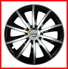 """15'' Wheel trims covers for Nissan Note  4x15"""" black/silver high gloss finish"""