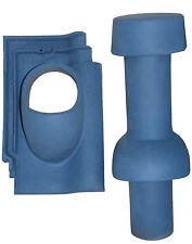 Sanitärlüfter TONDACH Gleinstätten Sulm blau engobiert / Dunstrohr Sanilüfter