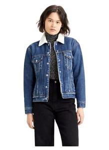 Levi's Femme Jean Veste Ex Style Boyfriend de Luxe Sherpa Camionneur Vêtements