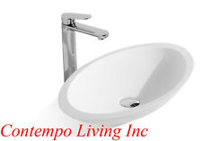 New listing 23-Inch Stone Resin Solid Surface Oval Shape Bathroom Vanity Vessel Sink