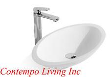23-Inch Stone Resin Solid Surface Oval Shape Bathroom Vanity Vessel Sink
