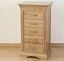 Toulon solid oak furniture bedroom tallboy wellington chest of drawers