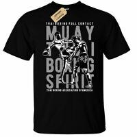 Muay Thai Boxing Spirit T-Shirt Mens mma martial arts top