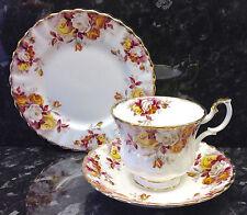 """Royal Albert Montrose Forma """"LENORA"""" MODELLO TEA CUP Trio."""