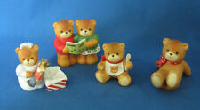 "4 Lucy & Me Bears Enesco ""Christmas Carols"", ""Nutcracker"" ""Baby with Spoon"""