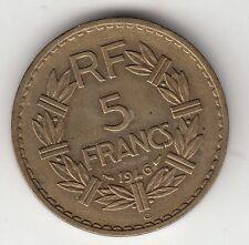 MONNAIE FRANCE 5 FRANCS LAVRILLIER  1946   CUPRO ALU