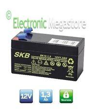 Batteria Ermetica Ricaricabile al Piombo 12V Volt 1,3Ah 1,2Ah connettore Faston