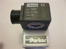 PARKER ZB12 12W  24 DCV SOLENOID VALVE COIL ONLY - COFFEE ESPRESSO MACHINE