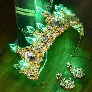 Cristal Diadème Mariage Mariée Couronne Cheveux Princesse Perle Bandeau Diamants
