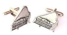 Grand Piano Hand Made Pewter Cufflinks (N271)