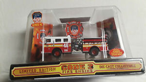 "Code 3 12302 ""FDNY Seagrave Pumper #46"" 1/64 Diecast Fire Truck"