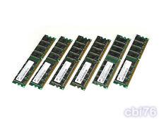 lot 6 mémoire de 512MO MICRON (6X512MO) DDR PC3200 DIMM 400MHZ 184PIN