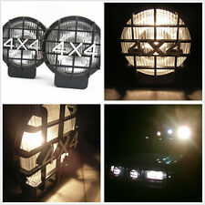 2 x White Lens 4x4 Roof Bumper Halogen Driving Light Spot Lamps For SUV Off-Road