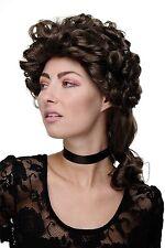 Perruque de qualité dame noble style Renaissance et baroque Marron Long