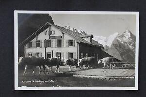 SC20 SWITZERLAND Postcard to Holland -Grosse Scheidegg mit Eiger  used