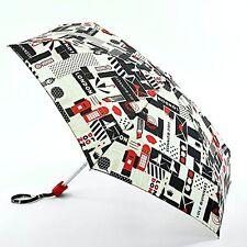Lulu Guinness Por Fulton Damas Pequeño - 2 Paraguas De Diseñador Estampado de Londres