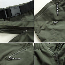 Zip Quick Cargo Pants Dry Hiking Trousers Off Men's M-3xl Shorts Outdoor Sports