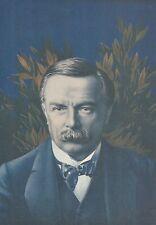 K1095 David Lloyd George - Portrait - Ritratto - Stampa d'epoca - 1915 Old print