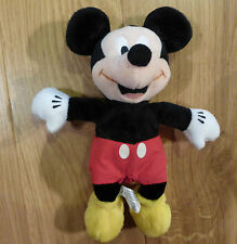"""Preloved Adorable Cuddly Toy / Beanie Classic Mickey Mouse Beanie (approx 9"""")"""