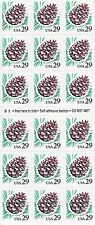 PINE CONE STAMP BOOKLET -- USA #2491A 29 CENT