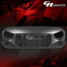 MATTE BLACK ANGRY BIRD FRONT UPPER GRILLE COVER REPLACEMENT FOR 07-17 WRANGLER