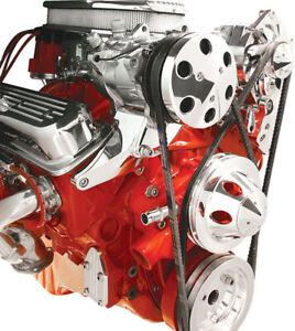 Billet Specialties Top Mount Compressor Bracket BSP-10721V-Groove Small Block Ch