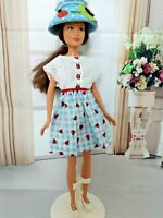 OOAK DOLL CLOTHES FOR SKIPPER LADY BUG PRINT DRESS OUTFIT CLOTHES SET