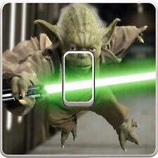 Star Wars Yoda Interruptor De Luz Pegatina De Vinilo Calcomanía Para Dormitorio De Niños #378