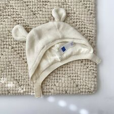 Janie And Jack Baby Bonnet Bear Ears Hat Ivory Knit Cap