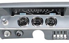 1961-62 Chevrolet Impala Dakota Digital Black Alloy & White VHX Gauge Dash Kit