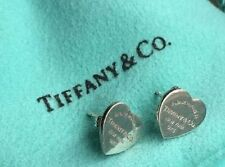 "Tiffany & Co. ""Return to Tiffany"" Mini Heart Earrings w/ Pouch, .925 Silver,"