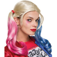 Batman Squad Harley Quinn Cosplay Twintails Pig Tails Bunches Wig CoolMulticolor