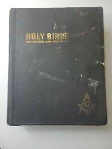 Vintage Masonic/Freemason Bible Red Letter Edition Cyclopedic Hertel 1951 Ed.