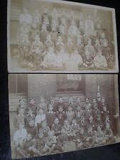 2 Old postcards school children c1900s