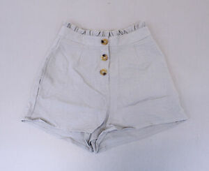 Nasty Gal Women's Button Front Short SV3 Gray US:4 UK:8 NWT
