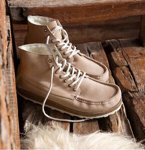 Birkenstock Marton Shearling Fur Lined Suede Chukka Boots EU 38 Womens 7-7.5N