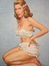 "Elvgren Vargas Original True Vintage Pin-Up Poster Litho 8x10 ""Ruffled?"""