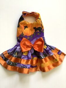 Handmade Halloween Doggie Dress  Size Medium