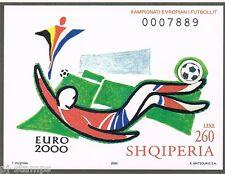 2000 Albanië blok 125 EK voetbal  / EC soccer