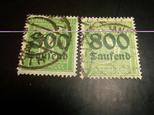 German Stamps, Scott 261-2, Used