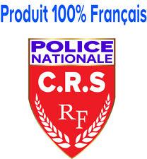 STICKERS Autocollant POLICE NATIONALE CRS , patch, écusson pare-brise voiture