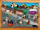 Vintage Chile Apillera Women Cooking Banging Pots 3D Cloth Firewood Wall Hanging