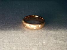Gorgeous Estate 14K Pink Rose Gold Diamond Wedding Band Ring