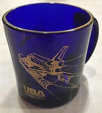 USA / UNITED SPACE ALLIANCE 1999 QUEST AWARDS BANQUET COBALT BLUE COFFEE CUP NM