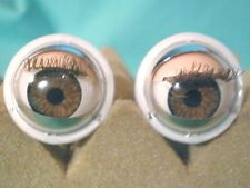 """vintage plastic capsule eyes (brown)  0.79""""/20"""