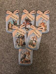 6 Drink Me Bottle Tag - Alice In Wonderland