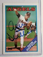 1988 Topps Don Sutton Autograph Dodgers Brewers Angels HOF Auto Card Signed